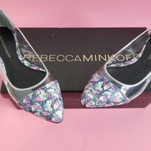 NWT Rebecca Minkoff Leather Floral Flat
